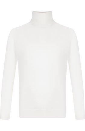 Мужской однотонная шерстяная водолазка ERMENEGILDO ZEGNA белого цвета, арт. URM00/120 | Фото 1