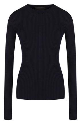 Шерстяной пуловер с круглым вырезом | Фото №1