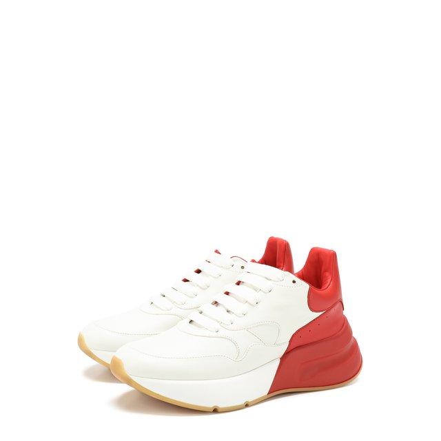 Кожаные кроссовки на массивной подошве Alexander McQueen — Кожаные кроссовки на массивной подошве