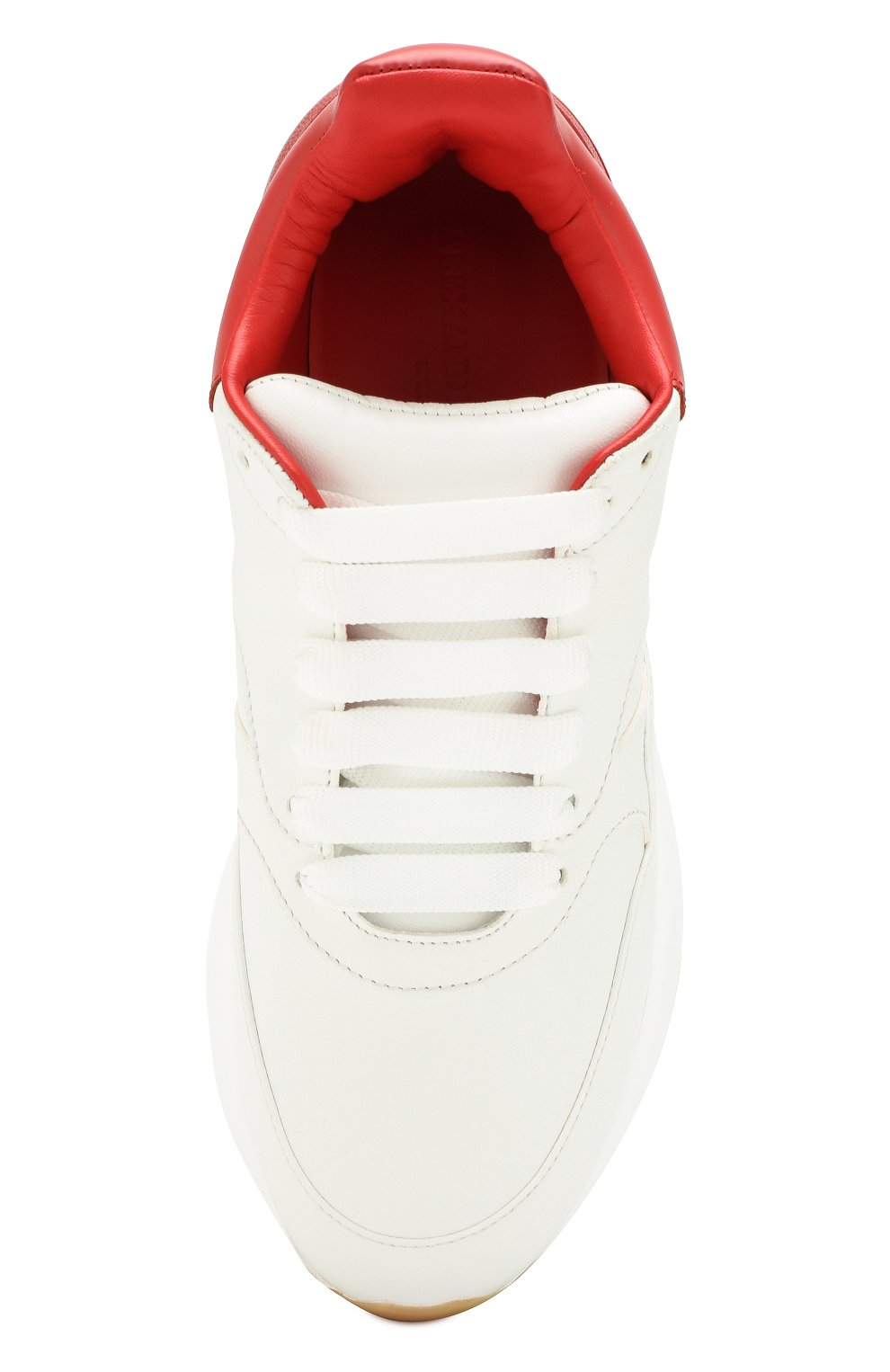 Кожаные кроссовки на массивной подошве | Фото №5