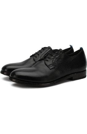 Кожаные дерби на шнуровке Moma черные | Фото №1