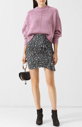 Шерстяной пуловер со спущенным рукавом Isabel Marant розовый   Фото №1