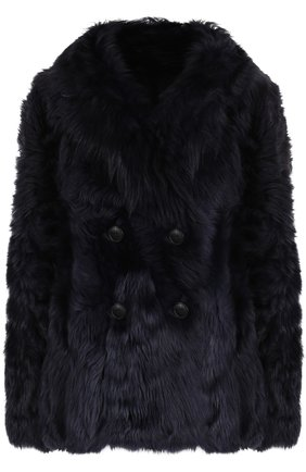 Двубортное пальто из овчины | Фото №1