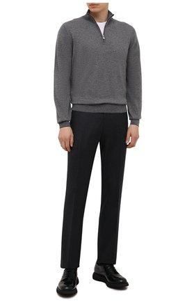 Мужские шерстяные брюки BERWICH темно-серого цвета, арт. SC/1 ALC/VB5991 | Фото 2