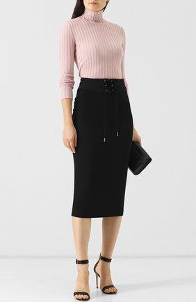 Шерстяная юбка со шнуровкой Emilio Pucci черная | Фото №1