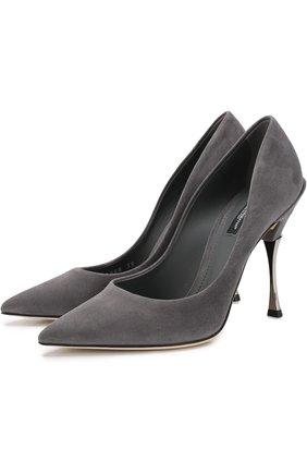 Замшевые туфли Cardinale на шпильке | Фото №1