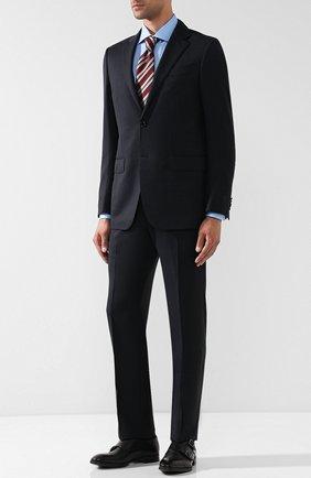 Мужские кожаные монки york с двумя пряжками GIORGIO ARMANI черного цвета, арт. X2L096/XAT29 | Фото 2
