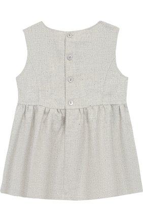 Платье с декором Aletta серого цвета   Фото №1