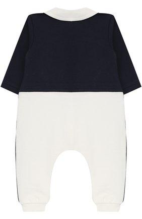 Хлопковый комбинезон с отделкой Aletta темно-синего цвета   Фото №1