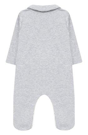 Хлопковый комбинезон с декоративной отделкой Aletta серого цвета   Фото №1