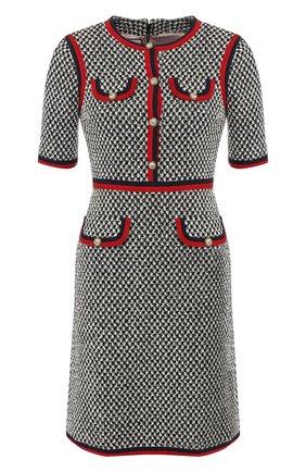 Хлопковое платье с контрастной отделкой   Фото №1