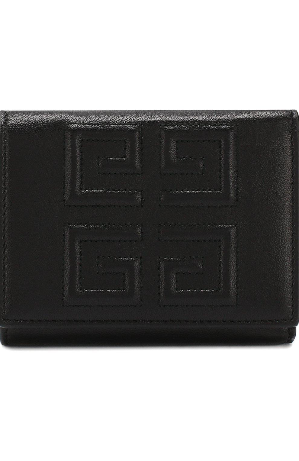 Женские кожаный кошелек GIVENCHY черного цвета, арт. BB602VB07Y   Фото 1