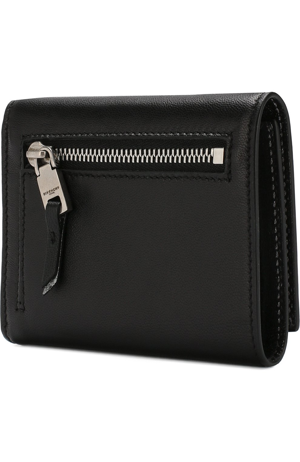 Женские кожаный кошелек GIVENCHY черного цвета, арт. BB602VB07Y   Фото 2