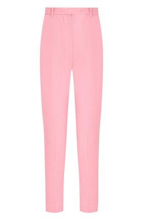 Укороченные брюки из смеси шерсти и шелка | Фото №1