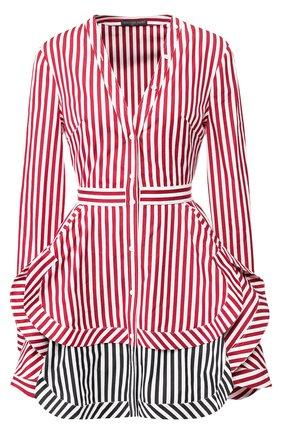 Хлопковое мини-платье с оборками | Фото №1