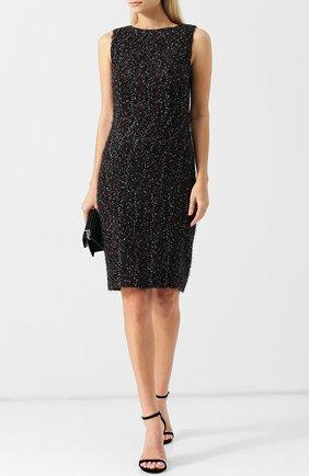 Вязаное платье без рукавов Giorgio Armani черное | Фото №1