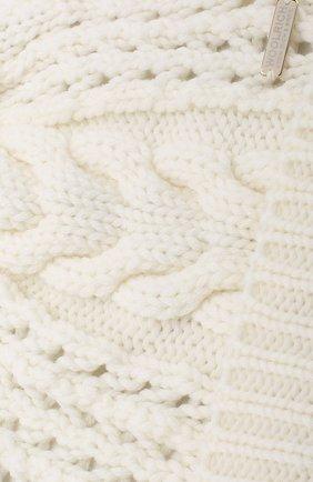 Шерстяная шапка фактурной вязки с помпоном Woolrich белого цвета | Фото №3