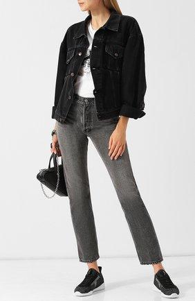 Женские комбинированные кроссовки TOD'S черного цвета, арт. XXW14B0AC70J9E   Фото 2
