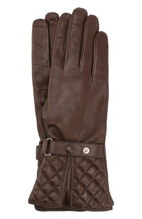 Кожаные перчатки Sermoneta Gloves черные   Фото №1