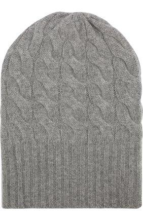 Кашемировая шапка фактурной вязки Not Shy бежевого цвета   Фото №1