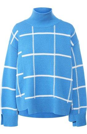 Пуловер из смеси шерсти и кашемира MRZ голубой | Фото №1