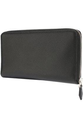 Мужской кожаное портмоне на молнии TOD'S черного цвета, арт. XAMAMUA0500SUN | Фото 2