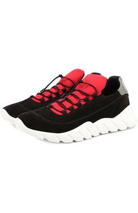 Замшевые кроссовки на шнуровке | Фото №1