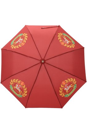 Женский зонт с принтом BURBERRY бордового цвета, арт. 4080098 | Фото 1