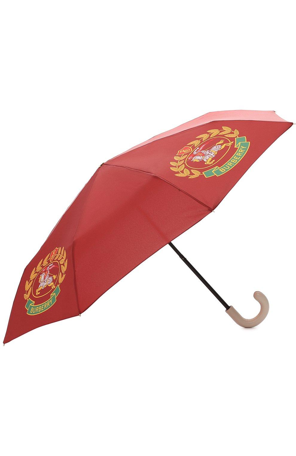 Зонт с принтом Burberry бордовый   Фото №2