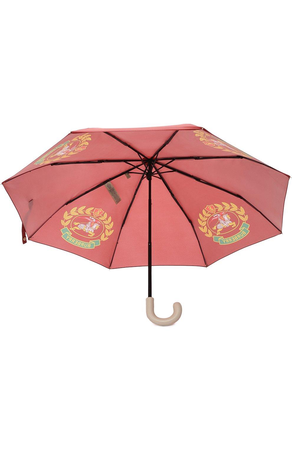 Зонт с принтом Burberry бордовый   Фото №3
