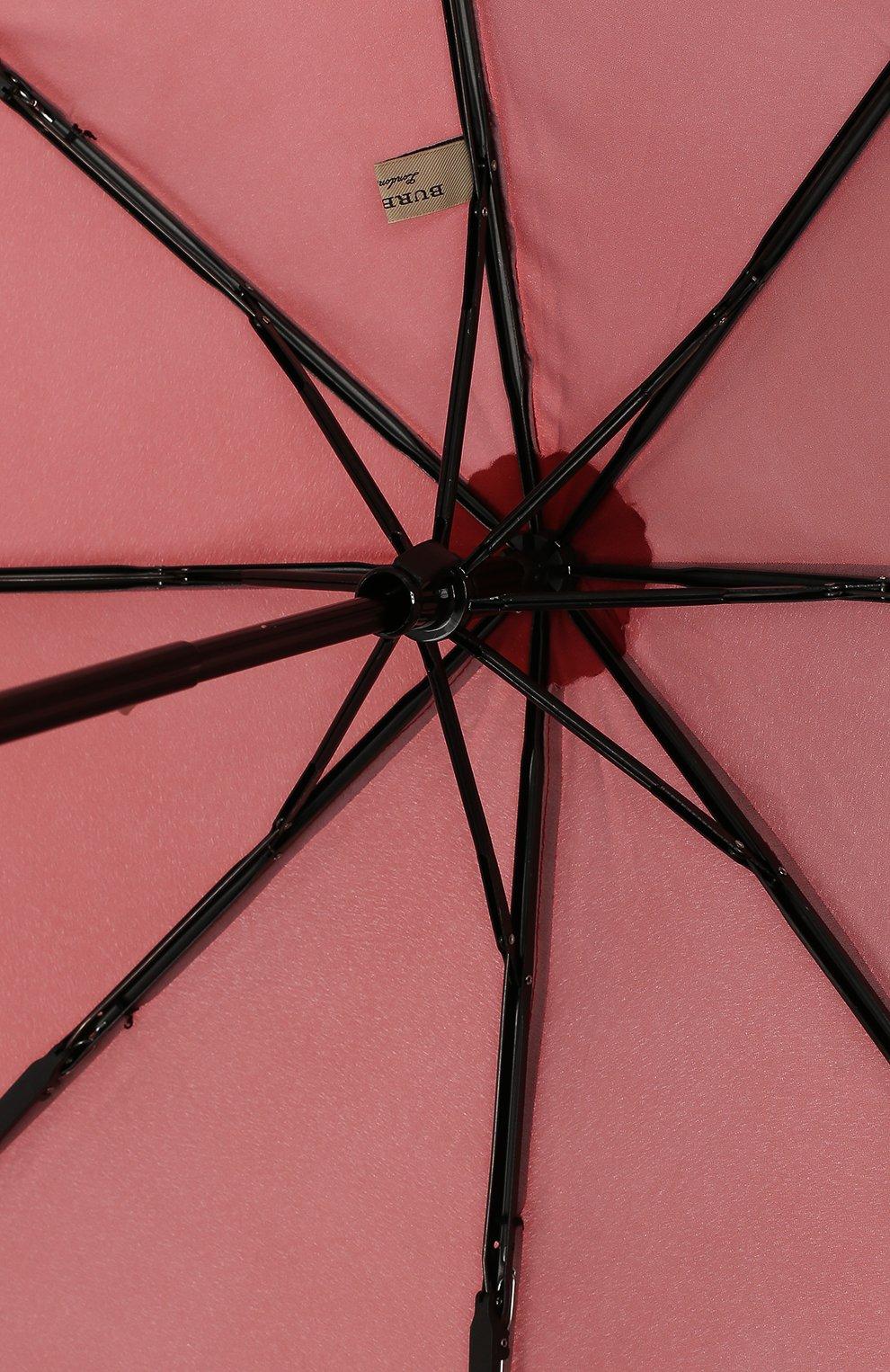 Зонт с принтом Burberry бордовый   Фото №4