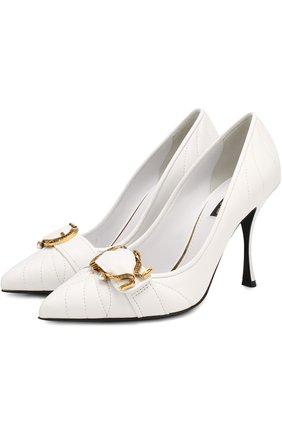 Кожаные туфли Devotion на шпильке | Фото №1