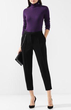 Укороченные шерстяные брюки со стрелками Bottega Veneta черные | Фото №1