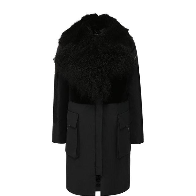 Пальто с меховым воротником Giorgio Armani