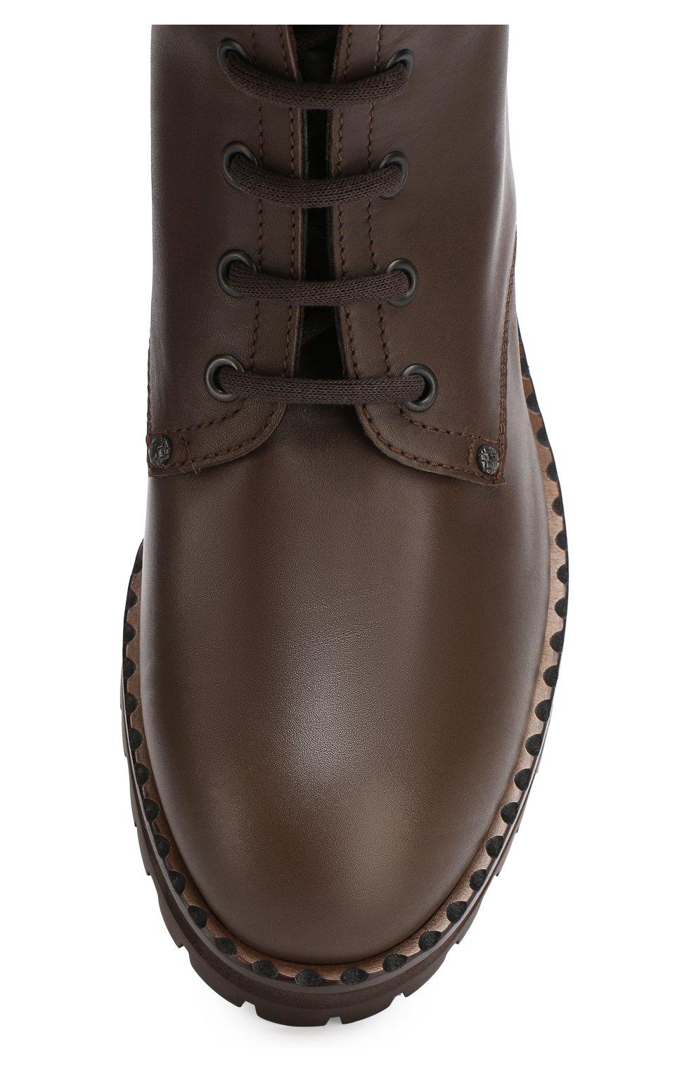 ca16c34162ee Женские коричневые кожаные ботинки с плетением intrecciato BOTTEGA VENETA —  купить за 66950 руб. ...