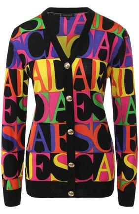 Кардиган из смеси шерсти и шелка Escada разноцветный   Фото №1