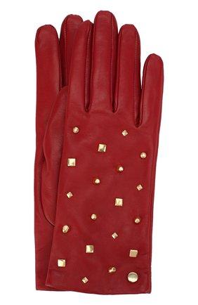 Кожаные перчатки с декоративной отделкой   Фото №1