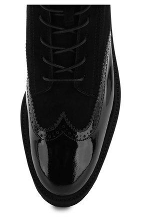 Лаковые ботинки на массивной подошве | Фото №5