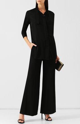 Женская блуза из вискозы с воротником аскот Ben Taverniti Unravel Project, цвет черный, арт. UWDB074E182280011000 в ЦУМ | Фото №1