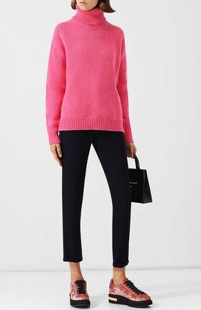 Шерстяной пуловер с высоким воротником Golden Goose Deluxe Brand розовый | Фото №1