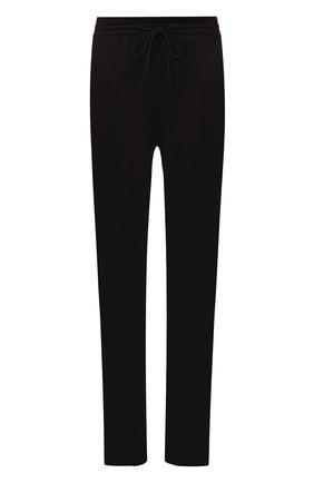 Однотонные брюки прямого кроя Mm6 черные   Фото №1