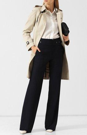 Женская однотонная блуза с отложным воротником DKNY, цвет белый, арт. P8RMN500 в ЦУМ | Фото №1