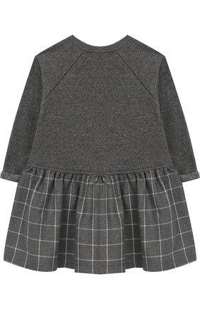 Хлопковое платье Aletta серого цвета   Фото №1