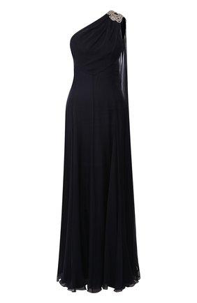 Шелковое платье-макси с декоративной отделкой | Фото №1