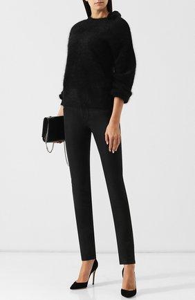 Однотонные джинсы прямого кроя Jacob Cohen черные | Фото №1