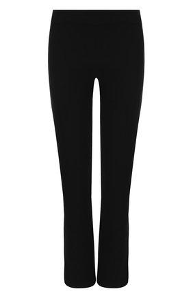 Однотонные шерстяные брюки Giorgio Armani черные | Фото №1