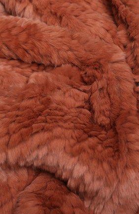 Шарф из меха кролика Yves Salomon розовый | Фото №1