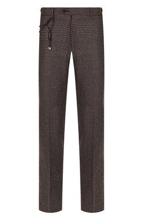 Мужской шерстяные брюки BERWICH темно-коричневого цвета, арт. SC/1 FIBB/RD8071 | Фото 1