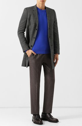 Мужской шерстяные брюки BERWICH темно-коричневого цвета, арт. SC/1 FIBB/RD8071 | Фото 2
