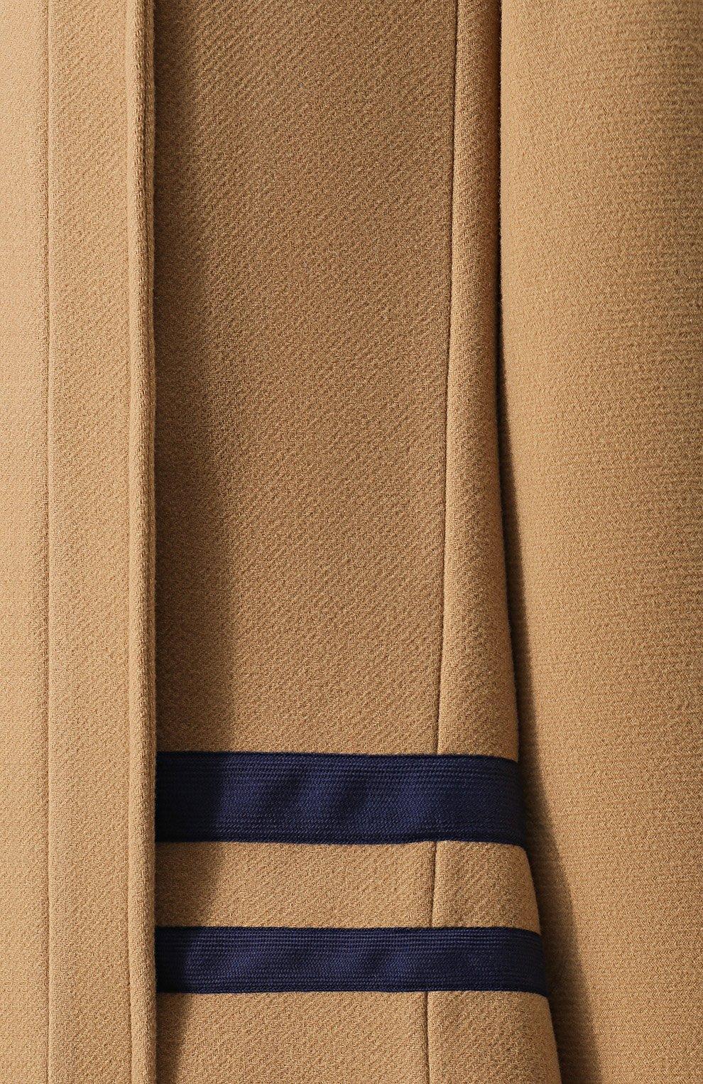 Женская шерстяное пончо с воротником-стойкой CHLOÉ бежевого цвета, арт. CHC18AMA22072   Фото 5
